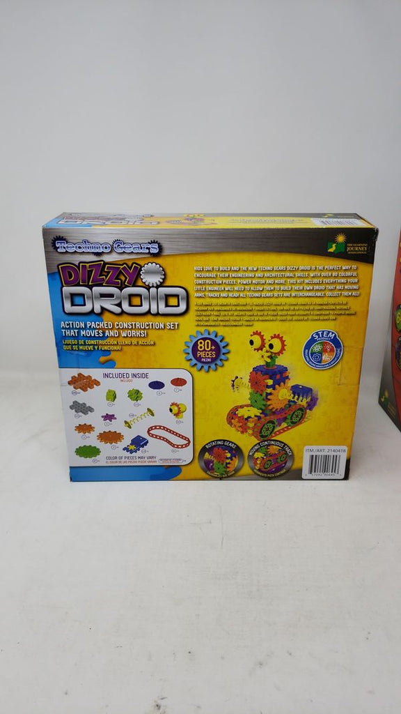 Pack of 2, Techno Gears Dizzy Droid and Crazy Train Construction Set, Rotating Gears, Ages 6+ AP43