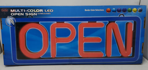 Pro-Lite Multi-Color Led Open Sign B3S1