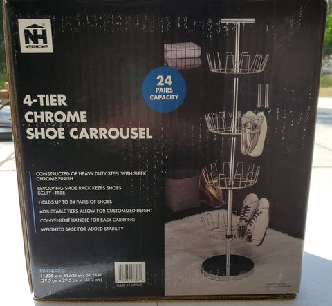 Neu Home 4 Tier Shoe Carrousel B2C1