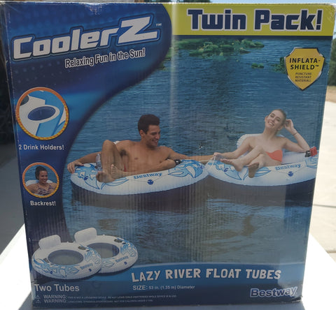 Lazy River Float Tubes Twin Pack By Coolerz AP28