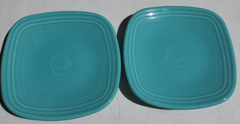 Fiesta 7 1/2 in Square Turquoise Plates AP44