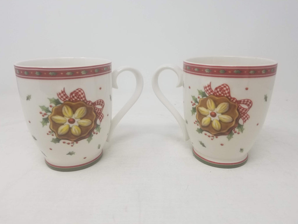Set of 2 Villeroy & Boch Winter Bakery Delight Mugs 11.5oz Made in Germany AB27