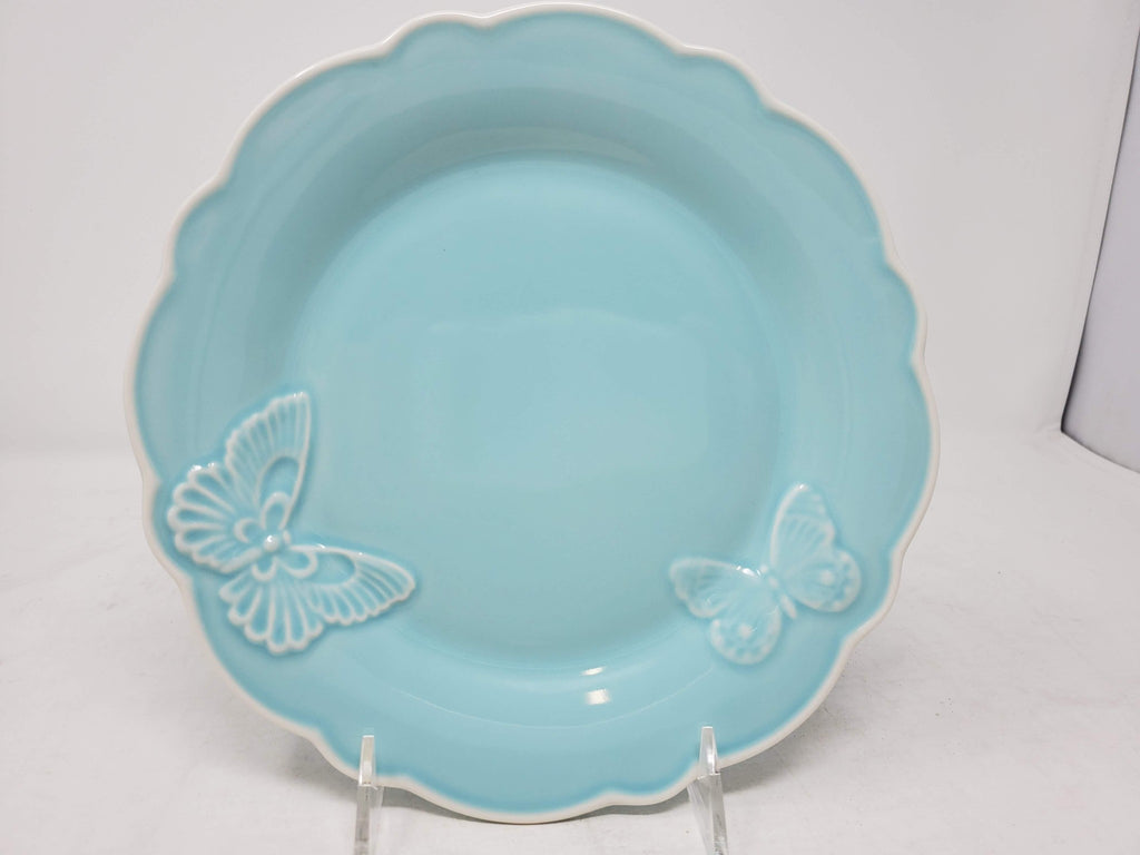 New - lenox Butterfly Meadow Carved Blue 9 Accent Plate