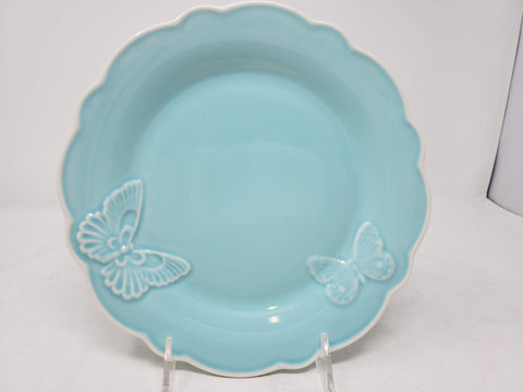 New - lenox Butterfly Meadow Carved Blue 9 Accent Plate AP22