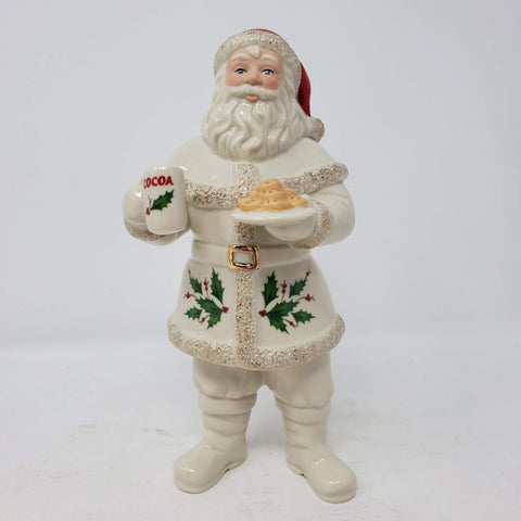 Santa With Cookies Figurine, Created By Lenox 2018 Retired Rare ap28