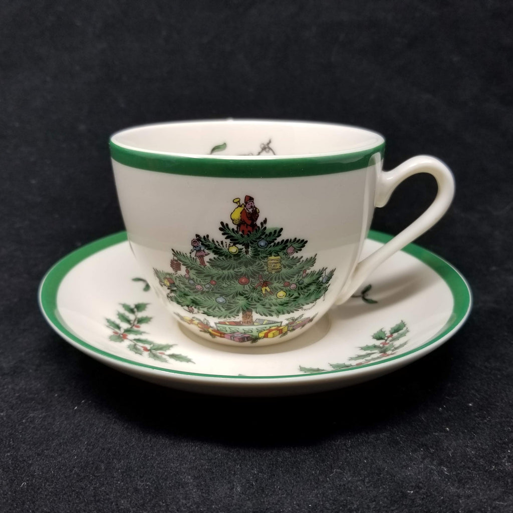 Spode Christmas Tree Mug and Saucer New AP9
