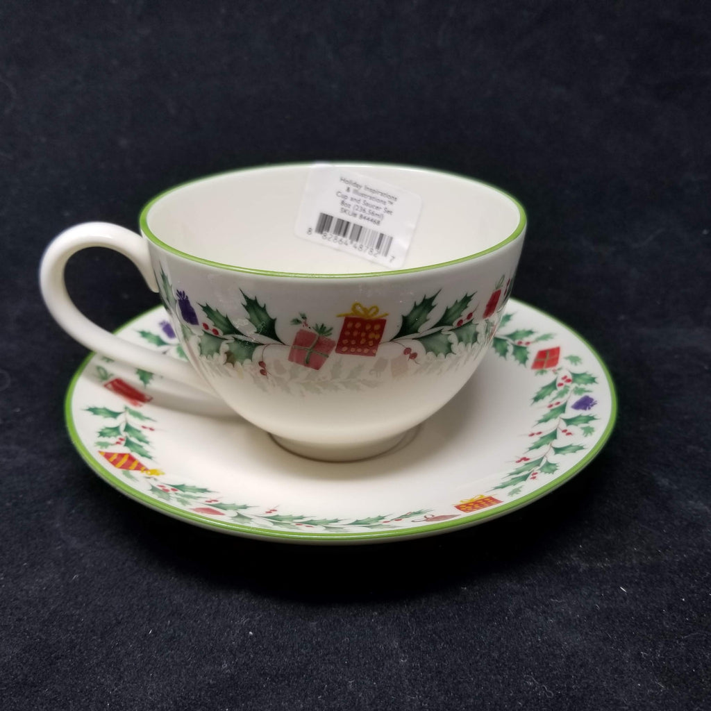 Lenox Dinnerware, Holiday Inspirations & Illustrations Cup & Saucer 8 oz AP9