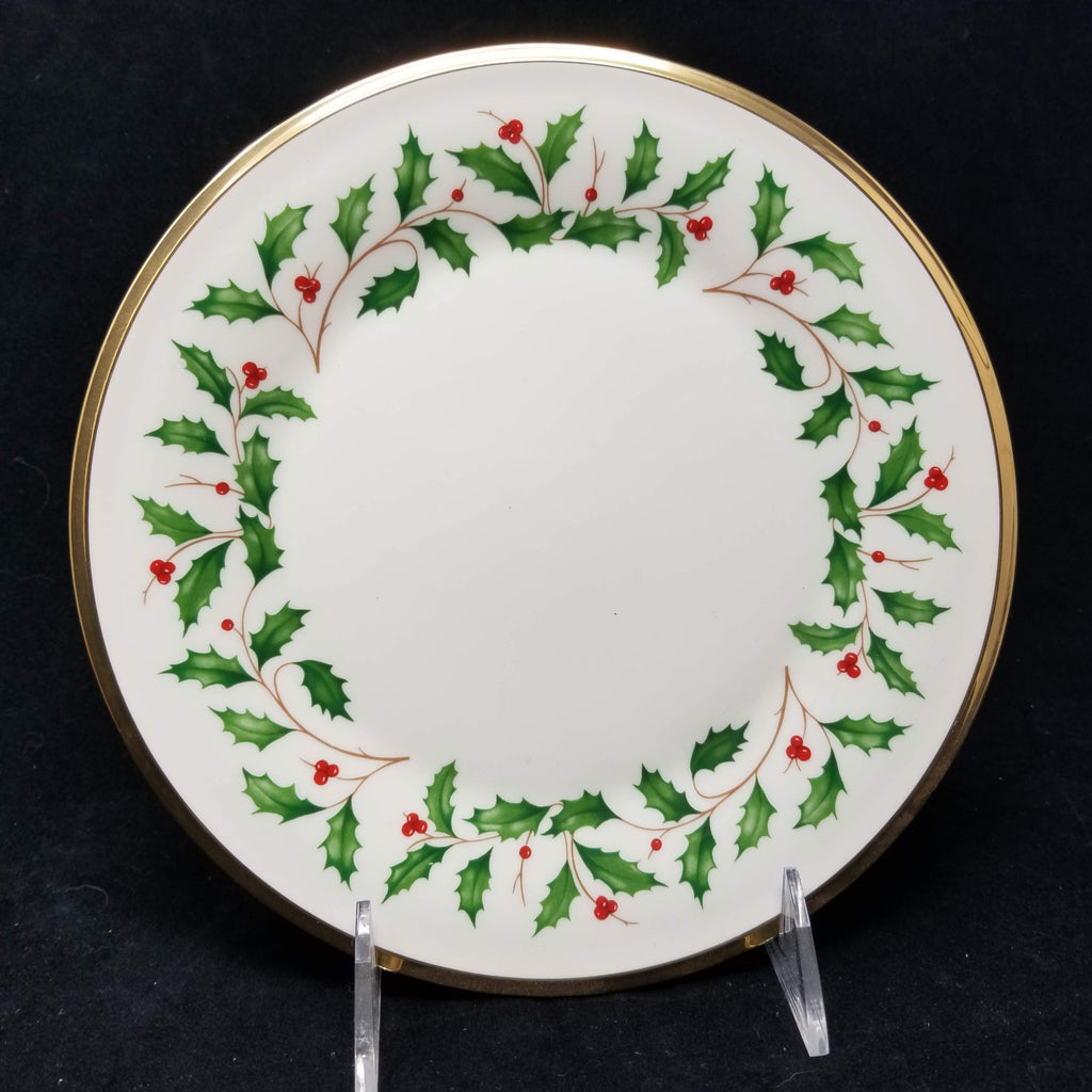 "Lenox Holiday Salad Plate Made in USA 8"" AP9"