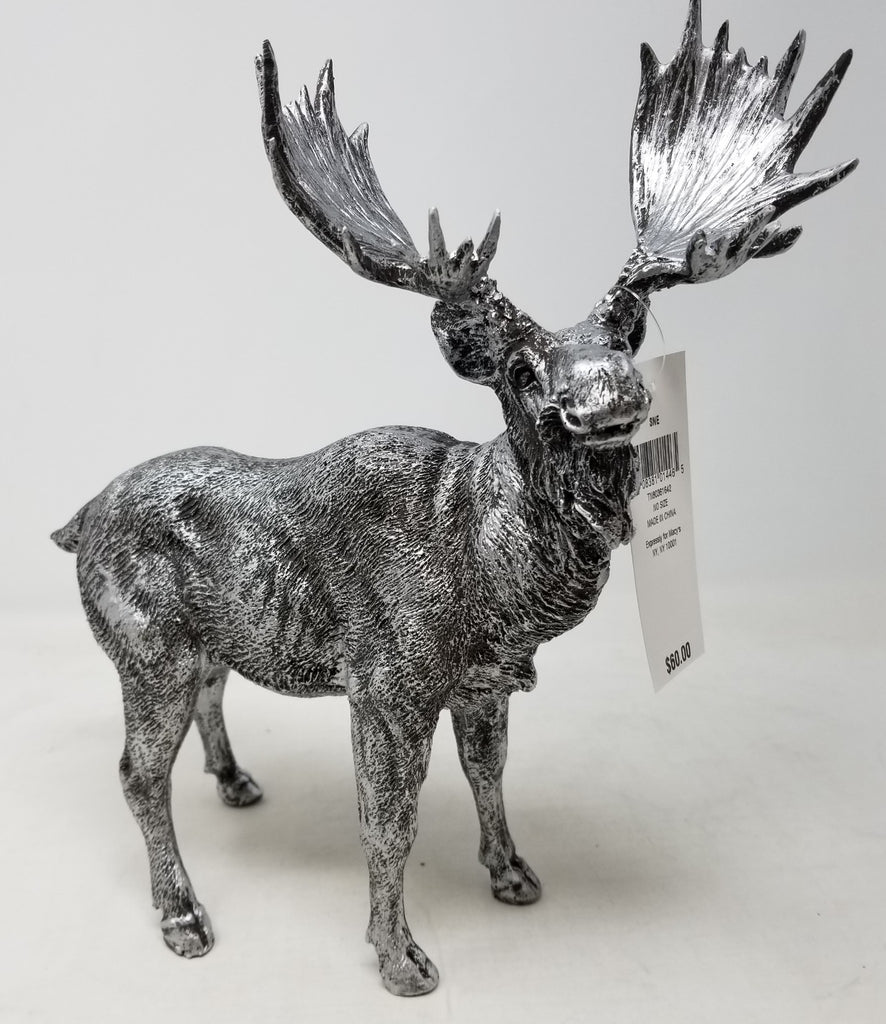 Holiday Lane Gray Moose Christmas Décor B3MB