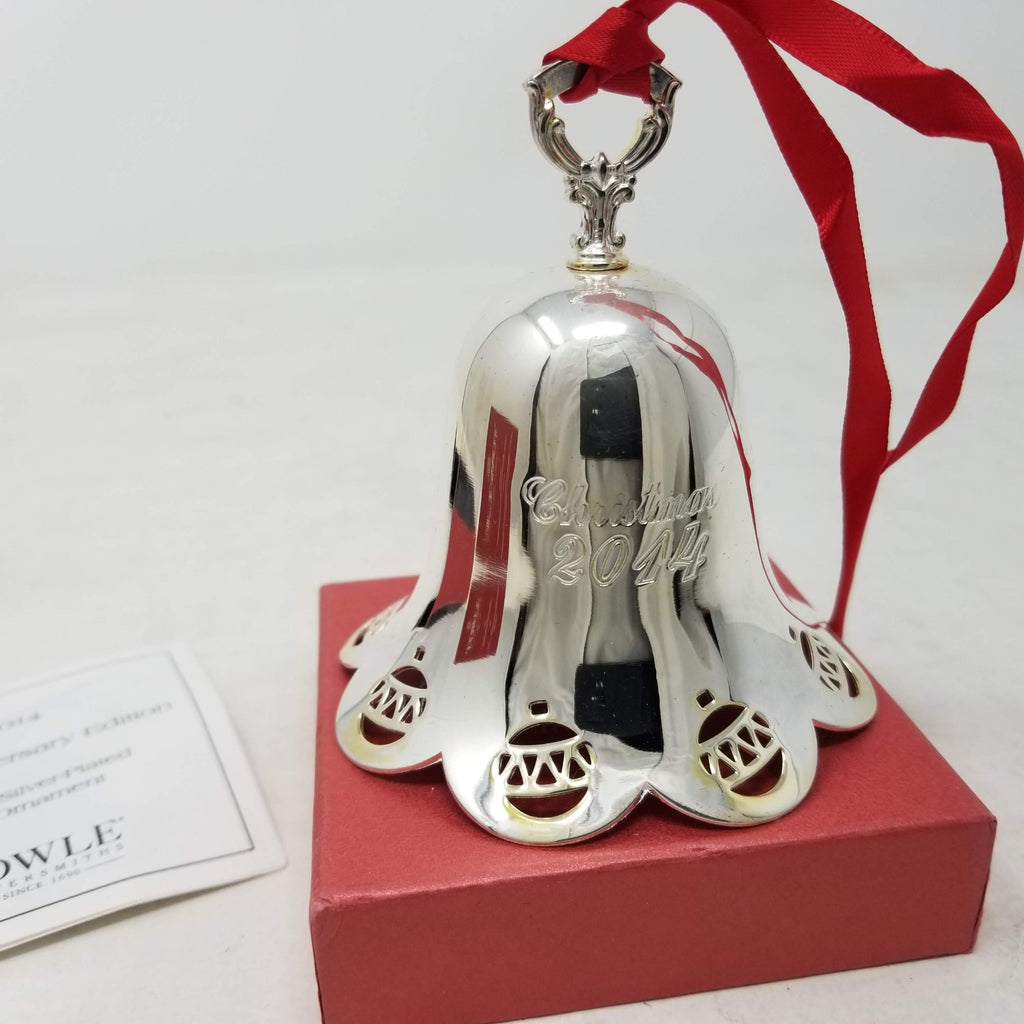 Towle 2014 Silver-Plated Pierced Bell Ornament, 35th Edition B2