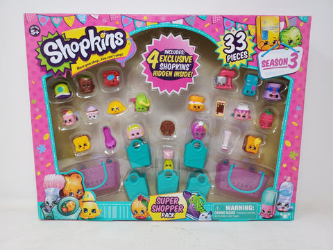 Shopkins 33 pieces Super Shopper Pack Season 3 New Collectible
