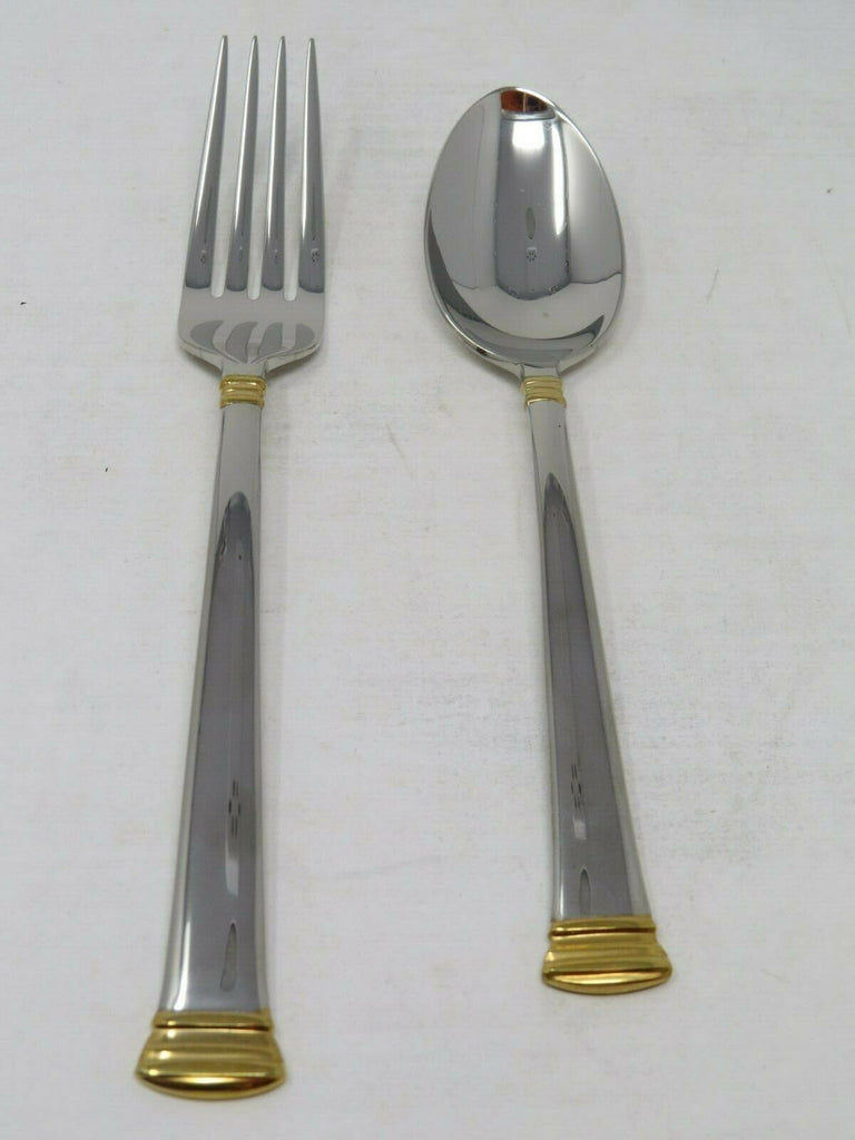 Lenox Eternal Gold Plaza Flatware Spoon and Fork Set EB1
