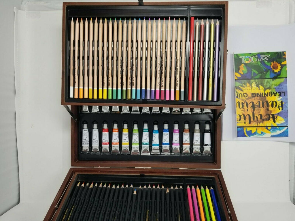 Art 101 Artist's Suite - 156 pc. Painting and Drawing Set open box b1es1