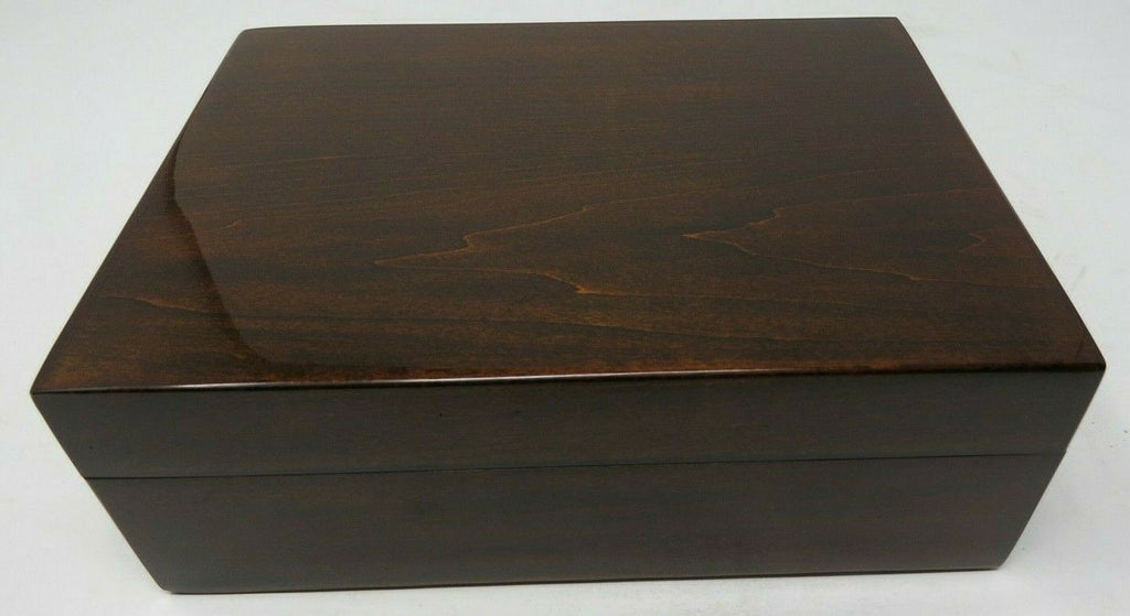 Tizo Empty Polished Wooden Box 8 x 6 x 3 Inch NC13BRNBX - Brown B3ES1