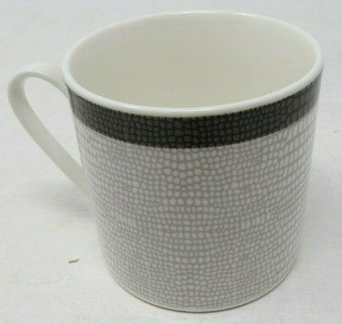 "Mikasa Wild Croc Gray & White Porcelain 3"" Tea Cup and 6 inch Saucer Set AP12"