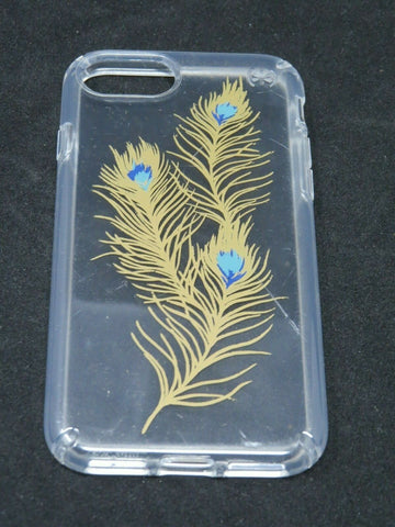 Speck Presidio Clear and Print Case for iPhone 7 - Showy Feather Gold AP14
