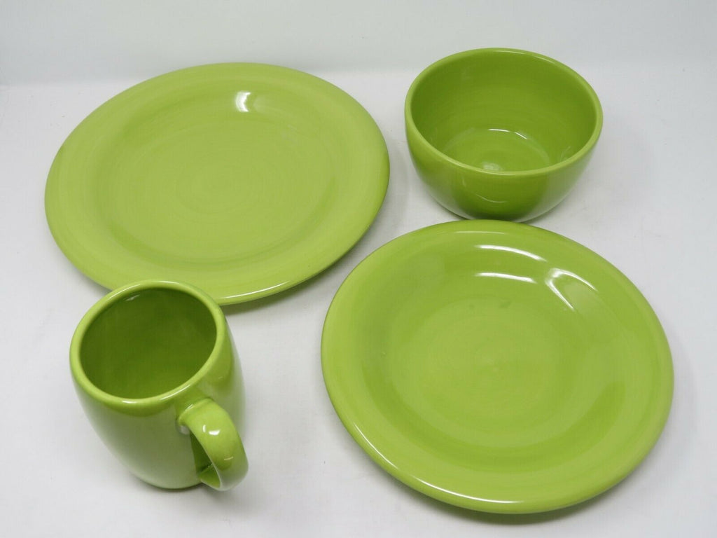 Espana Lime 4 Piece Place Setting Handcrafted, Hand-Painted B2C1top