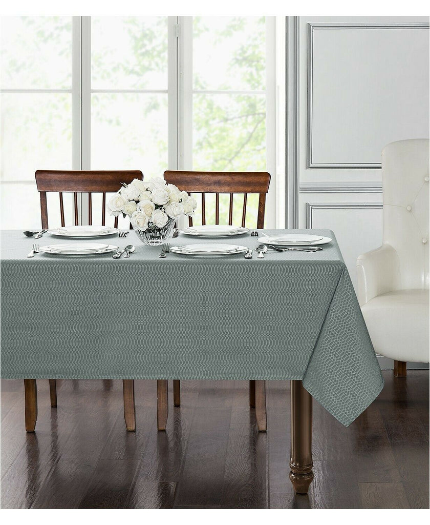 "New Waterford Essentials Cordelia Steel Blue 60"" x 104"" Tablecloth AP17"