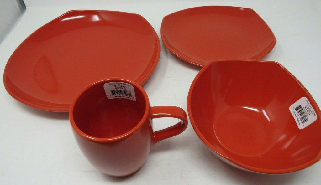 DANSK Classic Fjord 4-Piece Place Setting, Chili Red  B2ES2