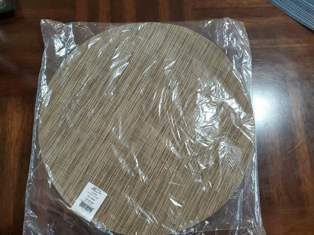 Chilewich Bamboo Round Table Place Mat 15 inch Camel ap6