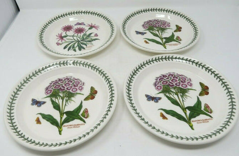 Portmeirion Botanic Garden Salad / Dessert Plate Set of 4 Made in England B3ES3