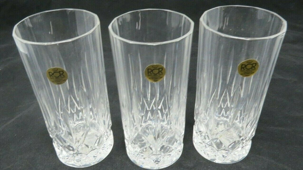 Highball Glass Opera by ROYAL CRYSTAL ROCK RCR Set of 3 Made in Italy EB8