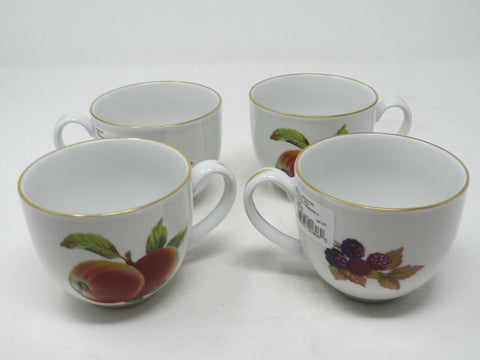 Set of 4 Royal Worcester Evesham Gold Saucer and Teacup Made in Portugal AP24