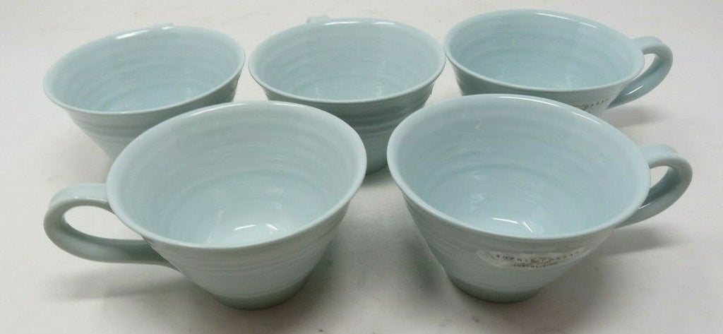 Set of 5 Sophie Conran for Portmeirion Celadon Tea Cup AP15
