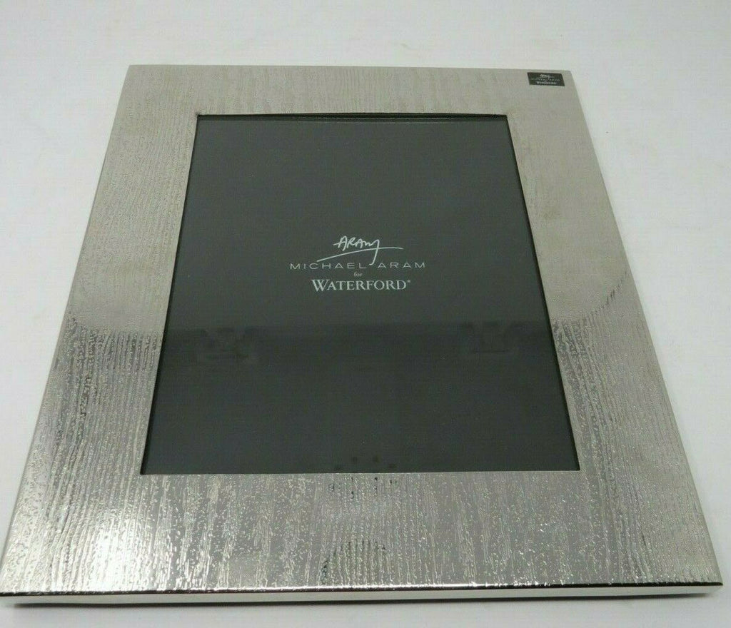 WATERFORD MICHAEL ARAM WOOD GRAIN 8x10 SILVER PLATED PICTURE FRAME B2ES2