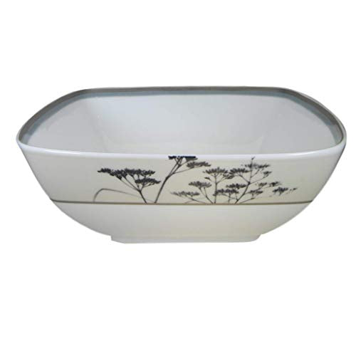 Noritake Twilight Meadow 5-3/4-Inch Square Bowl, 30-Ounces