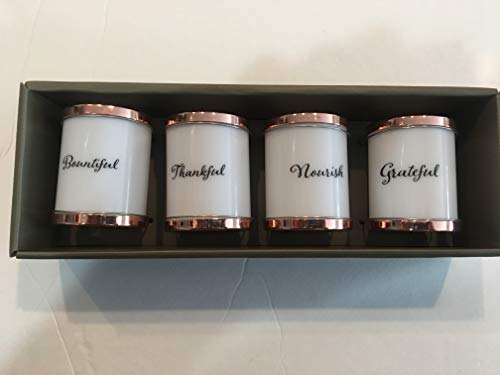 Finish Harvest Set of Four Copper top Napkin Rings