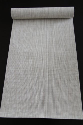 "Chilewich Mini Basketweave Runner in Parchment 14"" x 72"""