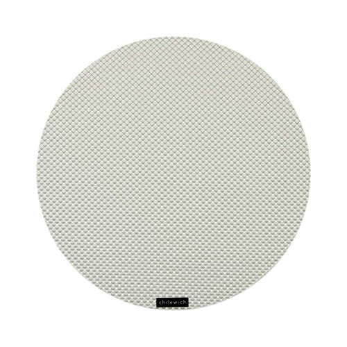 Basketweave Table Mat 15 Rnd-White