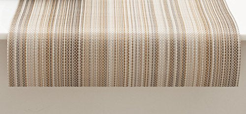 "Chilewich Multi Stripe Table Runner 14"" X 72"" Champagne"