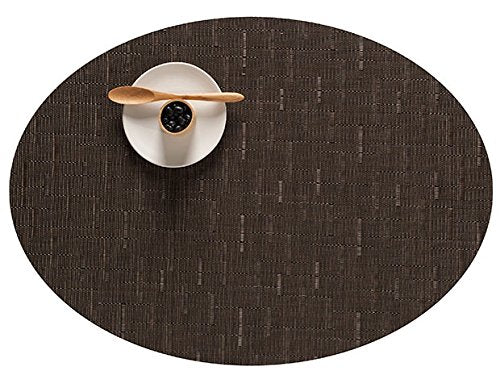 "Chilewich Bamboo Oval Placemat Chocolate 14"" x 19"""