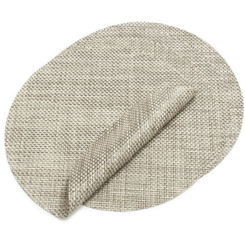 Chilewich Oyster Round Basketweave Placemat 0095-BASK-OYST
