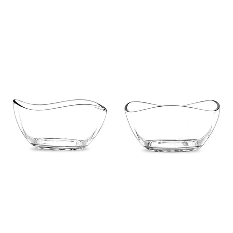 "Portmeirion Ambiance Glass Bowl, Set of 2, 4""Each"