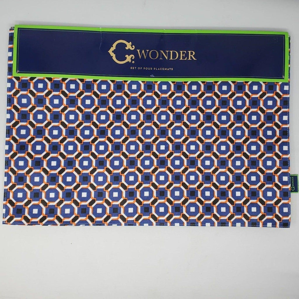 Set of 4 placemats new 13×19″ navy