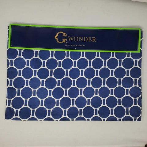 Set of 4 placemats 13×19 navy new AP13