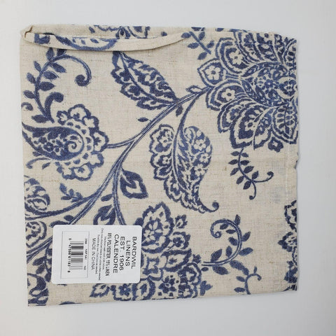 Bardwil set of 4 napkins indigo flowers