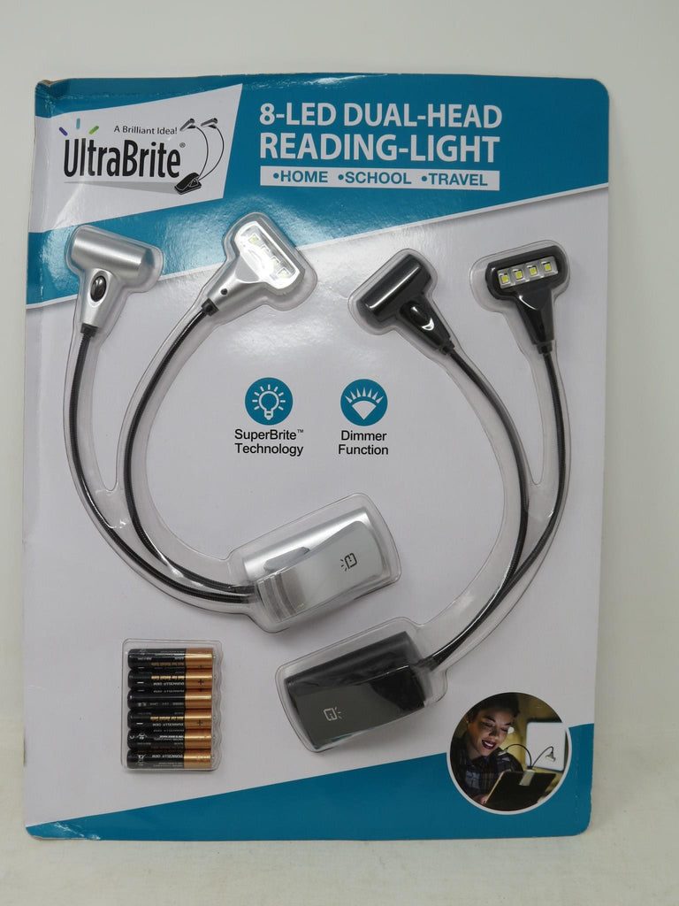 UltraBrite 8 LED Dual Head Reading Light w/ Batteries