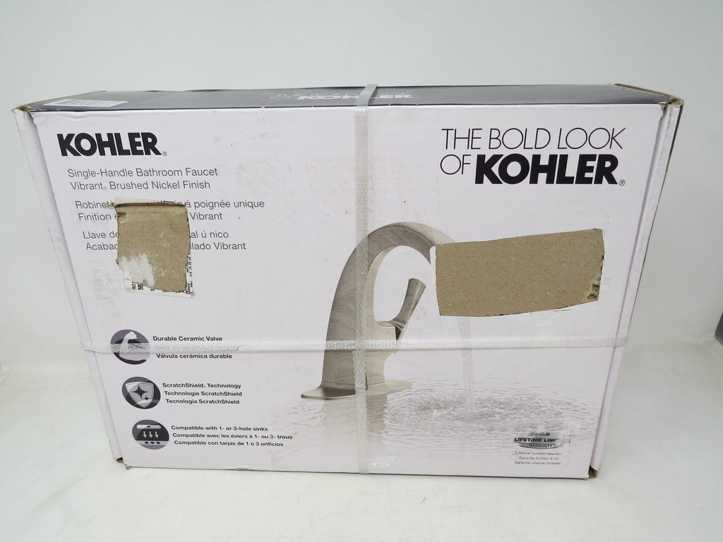 Kohler Transitional Single-control Bathroom Faucet, Brushed Nickel Finish AP31