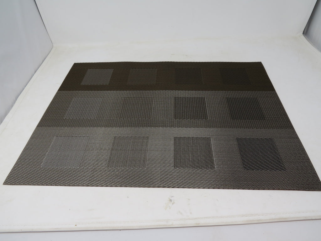 "Chilewich Engineered Squares Placemat 14"" X 19"" Gray (One Piece) AP30"