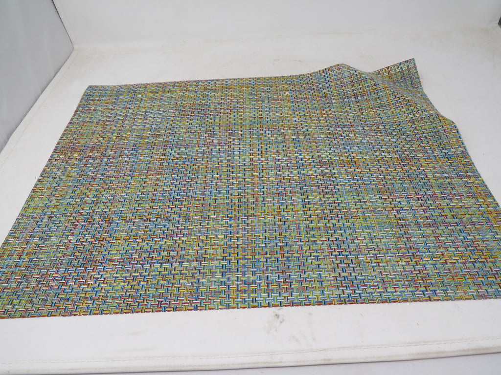 "Chilewich Basketweave Placemat Confetti Color 14"" x 19"" Made in USA AP30"