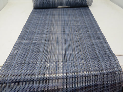 "Chilewich Multi Stripe Table Runner Chambray 14"" x 72"" Made in USA AP30"