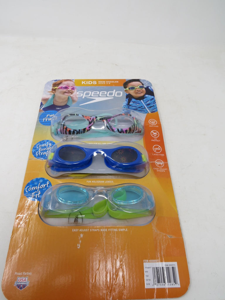 Speedo, Kids Swim Goggles ages 3-8, Anti-Fog, UV Protect