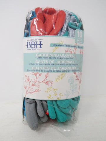 GROUP BBH GARDEN Gloves - Latex / Polyester 10 Pairs ONE SIZE