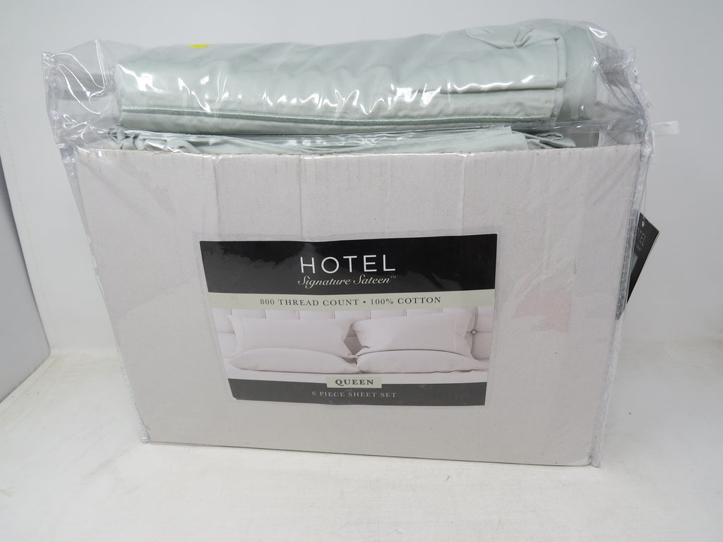 Hotel Signature Sateen 800 Thread Count Sheet Set Smoke Color, Queen AP14