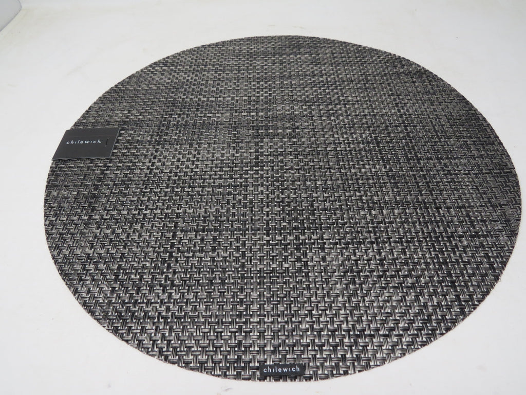 CHILEWICH Basketweave Round Placemat - Carbon New AP30