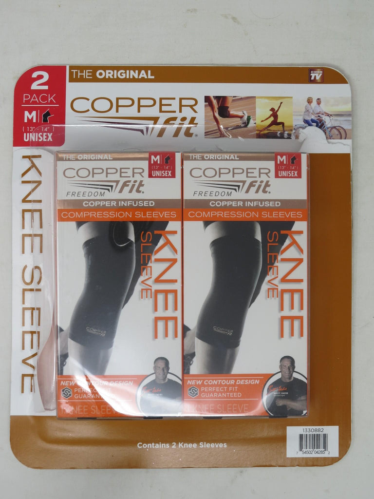 "Copper Fit Original Recovery Knee Sleeve, Medium - 13""-14"" , 2 Pack AP10"